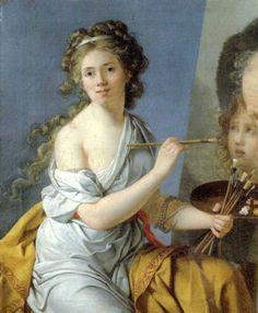 Marie-Guillemine Benoist (French artist, Self-Portrait, 1790 Woman Painting, Artist Painting, Women Artist, Female Painters, Helen Frankenthaler, Painted Ladies, French Artists, Artist At Work, Oeuvre D'art