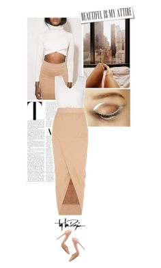 """Untitled #974"" by eve-angermayer ❤ liked on Polyvore featuring moda, BCBGMAXAZRIA, Rick Owens, Christian Louboutin, Troy Lee Designs, white, nude, eveangermayer e angermayerevelin"