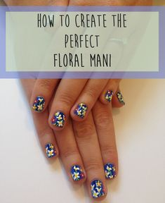 How To Create The Perfect Floral Mani In 9 Easy GIFs