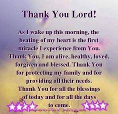Motivational words Thank you Lord Prayer Verses, Faith Prayer, God Prayer, Prayer Quotes, Power Of Prayer, Faith In God, Bible Verses, Scriptures, Healing Prayer