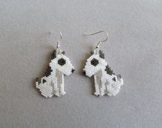 Your place to buy and sell all things handmade Seed Bead Earrings, Blue Earrings, Beaded Earrings, Seed Beads, Crochet Earrings, Unique Earrings, Beaded Jewelry Patterns, Beading Patterns, Shih Tzu Hund
