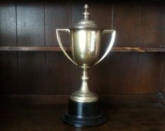 Vintage Extra Large Trophy Cup / Newtownards Horticultural Society Rose Challenge Cup / English Shop