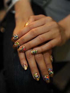 Crystal mani at the Libertine fashion show! #nyfw