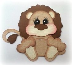 Lion Stuffy Pal Kids Premade Paper Piecing 3D Die Cut My Tear Bears Kira