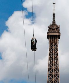 So, This Is What The Eiffel Tower's New Zip Line Looks Like+#refinery29