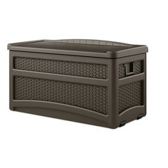 Suncast 73 Gal Deck Box with Seat 25-1/2 in. H x 46 in. D x 23 in. W (DBW7500) - Storage Sheds & Deck Boxes - Ace Hardware
