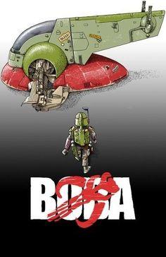 Boba Fett / Akira mash-up