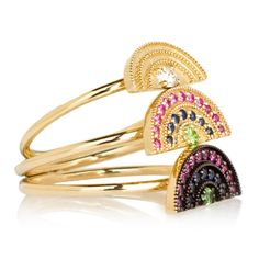 Andrea Fohrman Cuff Bracelets, Bangles, Stay Gold, 70s Fashion, Druzy Ring, Rainbows, Bling Bling, Circles, Jewerly