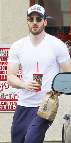 Chris Evans | He even makes fast food seem attractive <3<3<3 -B.R.