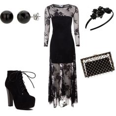 Gothic Dance by Hailey on Polyvore featuring polyvore fashion style True Decadence Charlotte Olympia L. Erickson