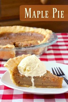 Maple Pie - a close cousin to butter tarts, sugar pie and even a southern pecan pie. This rich maple flavoured filling in a flakey buttery pastry is perfect for Canada Day or even for Thanksgiving or (Butter Tarts Canadian) Rock Recipes, Sweet Recipes, Köstliche Desserts, Delicious Desserts, Maple Syrup Recipes, Maple Dessert Recipes, Butter Tarts, Butter Pastry, Butter Pie