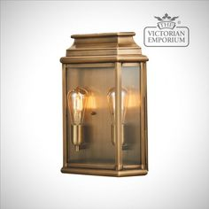 Buy Martins large brass wall lantern - antique brass, Outdoor Wall Lights - Rectangular Victorian style outdoor wall light in Antique Brass Victorian Lighting, Victorian Lamps, Antique Lighting, Led Outdoor Wall Lights, Outdoor Walls, Gas Lanterns, Exterior Wall Light, Wall Lantern, Candle Sconces