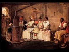 """Eyre Crowe, """"Slaves Waiting for Sale"""" Oil painting. 20 x 31 Heinz collection, Washington DC. What story do you think the artist is trying to tell? How do you think the slaves were feeling in that moment? Do you think the artist was for or against slavery? African American History, American Art, African American Genealogy, American Women, American Story, Early American, Granada, Black History Month, Culture"""