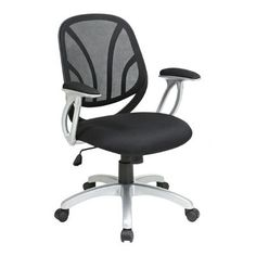 Mesh Back Task Chair with Silver Base | Smart Furniture