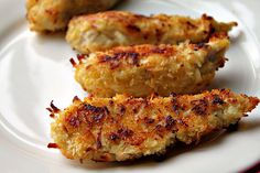 coconut crusted chicken (will alter this recipe without white flour)