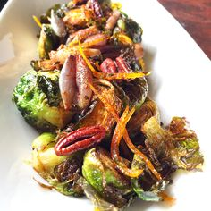 You could say these are not your typical Brussels sprouts. Brooklyn Winery's Chef Michael Gordon brings this unique recipe to our wine bar menu: Brussels Sprouts, Toasted Pecans, Smoked Paprika, Candied Orange, Red Pearl Onion, Maple Butter.