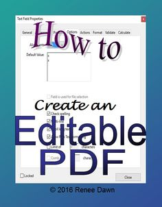 How to create an editable AND secure PDF file, step by step. Also known as a…