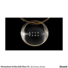 Minimalism Golden Ball Glass Vip Glam Pack Of Standard Business Cards