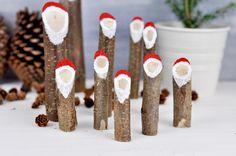 Hier findet ihr eine schnelle & einfache Bastelanleitung für Weihnachtsmänner aus Holz. Für diese Do It Yourself braucht ihr nur wenig Material.