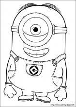 awesome Minions Coloring Pages   wecoloringpage ...