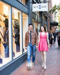 great vancouver wedding Fun walking in gastown! #engagementphotos #gastown #vancouverweddingphotographer #engaged by @deniselinphoto  #vancouverengagement #vancouverwedding #vancouverwedding