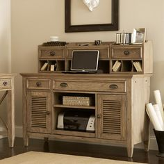 Coventry Credenza Desk with Hutch | Wayfair
