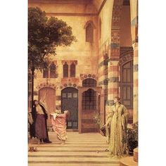 """Buyenlarge Old Damascus The Jew's Quarter by Frederick Leighton Painting Print Size: 42"""" H x 28"""" W x 1.5"""" D"""