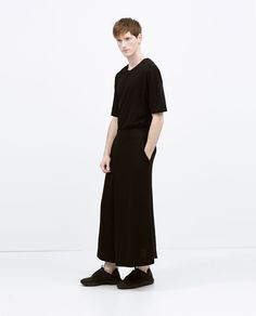 a053acbcd1 Image 1 of DARK SKIRT-TROUSERS from Zara Man Skirt