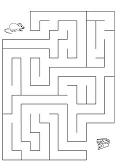 fromage gruyère - Recherche Google Rainy Day Activities, Toddler Activities, Preschool Activities, 1st Grade Worksheets, Tracing Worksheets, Maze Worksheet, Earth Coloring Pages, Maze Games For Kids, Maternelle Grande Section