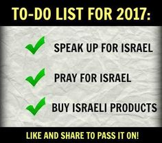 How you can support Israel in 2017
