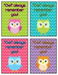 This is a super cute FREE gift tag to attach to your student's or teacher's gift on the last day of school.  We attached it to some cute owl cups for my kid's teachers!  Another teacher suggested attaching it to an owl notepad for her kids! *Because this is free, all I ask is that you please leave feedback!