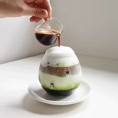 Matcha Cappuccino - Another! Coffee Latte Art, Coffee Menu, Coffee Cafe, Coffee Shop, Coffee Break, Cappuccino Art, Starbucks Coffee, Iced Coffee, Drink Recipes