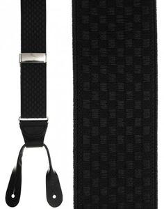 Black Checkers Suspenders