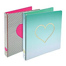 Colors No Color Choice Attractive Design Is Bound To Receive Lots Of Compliments 225 Sheet Capacity In A 1 Binder Size At Office Depot Officemax