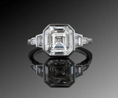 Platinum and diamond ring, by Fred Leighton