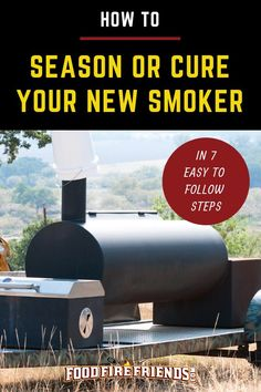 New smokers shouldn't be used for cooking right away, they need 'seasoning' to get them ready for use. Our guide will set you on the right road. Pit Boss Smoker, Bbq Ribs, Barbecue, Bbq Grill Diy, Best Portable Grill, Smoker Cooking, Cooking Bacon, Smoke Grill, Grilling Tips