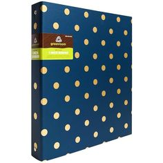 Greenroom 1in Metallic Dot/Stripe Ring Binder ($6.49) ❤ liked on Polyvore featuring home, home decor, office accessories, school, school supplies, extra, other and school stuff