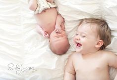Love this idea for capturing a new baby  older sibling :-)
