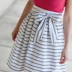 DIY High Waisted Sash Skirt (via This Big Oak Tree)