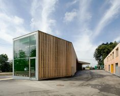 Image 1 of 18 from gallery of Operation Center Burgergemeinde / bauzeit architekten. Photograph by Yves André Wood Tags, Nook And Cranny, Interior Architecture, Swiss Architecture, Outdoor Areas, Building A House, Gallery, Outdoor Decor, Home