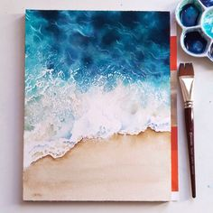 Sabrina eras on w 2019 illustration inspiration painting, wa Cute Canvas Paintings, Small Canvas Art, Mini Canvas Art, Watercolor Paintings, Watercolor Galaxy, Beach Watercolor, Seascape Paintings, Nature Paintings, Watercolour