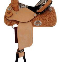 Alamo Zebra Barrel Racing Saddle Mommy wants KylieJo to have she said no. Barrel Racing Saddles, Barrel Saddle, Horse Saddles, Horse Gear, My Horse, Horse Tack, Western Saddles For Sale, Western Riding, Western Tack