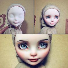 Miss White #monsterhigh#repaint#dollrepaint #ooak#faceup #everafterhigh #ooakdoll #monsterhighrepaint #artdoll #everafterhigh