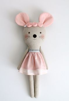 Items similar to Pink & Silver mouse in a double layer dress. on Etsy Pink & Silver mouse in a double layer dress.