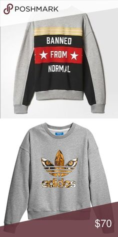 Adidas Rita Ora Banned From Normal Fits like a large more so. Super comfy! Only worn one time. Just like new. VERY RARE AND SOLD OUT!! Adidas Tops Sweatshirts & Hoodies