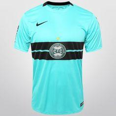 Camisa Nike Coritiba lll 2015 s/nº - c/ Patrocínio - Verde água