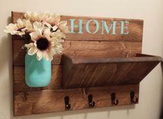 Key Holder Rustic Home Decor Key Rack Home Sign Mail