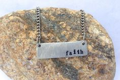 #Faith  #Bar #Necklace by BlissfulBirdDesigns on Etsy, $19.95 #jewelry #gift #accessories