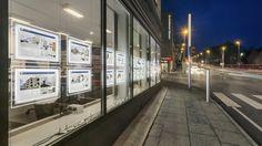 LED estate agent window display