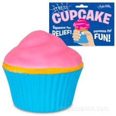 We eat stress for lunch, so I need a stress ball. Better yet, a stress cupcake!